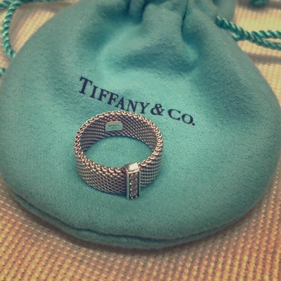 Tiffany & Co. Jewelry - Tiffany & Co. mesh band with diamonds.